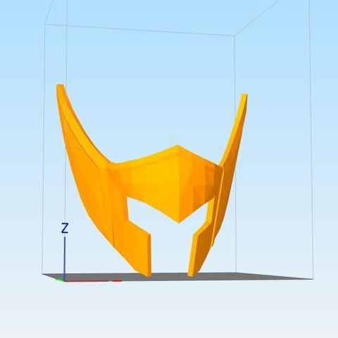 Capture.JPG Download STL file helmet of the golden knight of Aquarius • Object to 3D print, darkangel