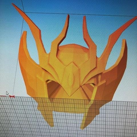 40580387_265188067537559_8980277192843853824_n.jpg Download STL file saint seiya helmet virgin • 3D printing template, darkangel