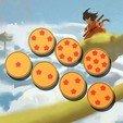 3D printer models Dragon Ball - Coasters, zipp0