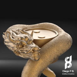 Download free 3D printer designs DRAGON-YIN/YANG-BRACELET, diegopolo05
