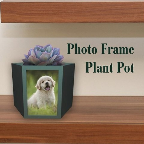 Free STL Picture Frame Plant Pot, BreRose