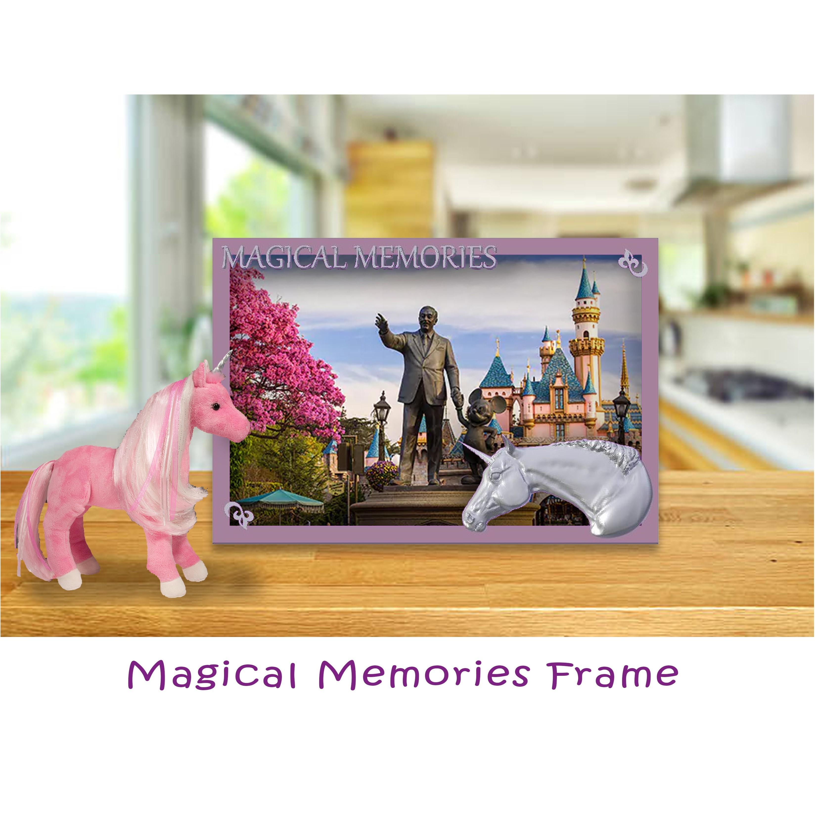 Free 3d printer model Magical Memories Unicorn Photo Frame ・ Cults