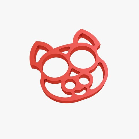 3D printing model Brass knuckles cat, VALIKSTUDIO