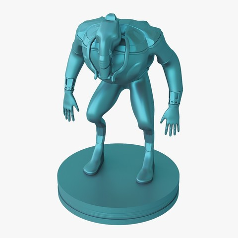 Mutant_jpg_02.jpg Download STL file Mutant miniature • Object to 3D print, VALIKSTUDIO