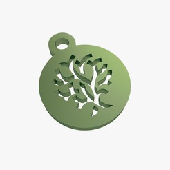 3d printer model Tree symbol keychain, VALIKSTUDIO