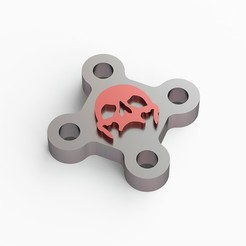 Download 3D printing templates Dead head keychain, VALIKSTUDIO