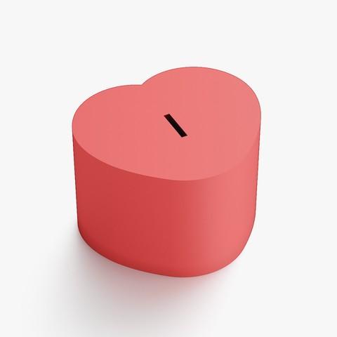 3D print files Heart coin box, VALIKSTUDIO