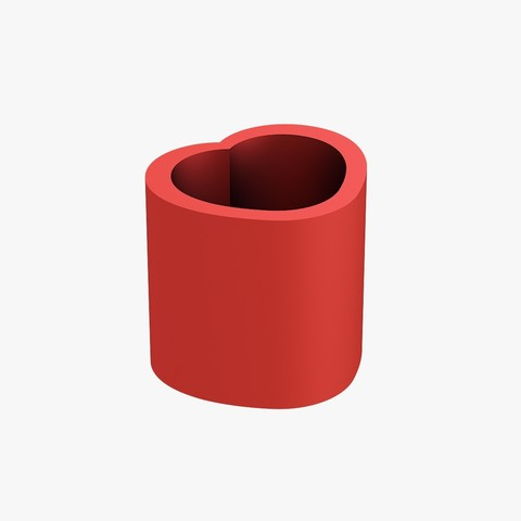 3D printer models Pencil cup heart, VALIKSTUDIO