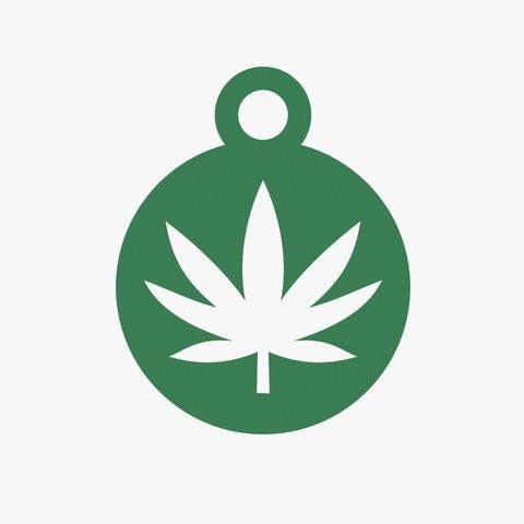 Descargar archivo 3D Llavero Símbolo de Cannabis, VALIKSTUDIO