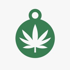 Download STL files Cannabis symbol keychain, VALIKSTUDIO