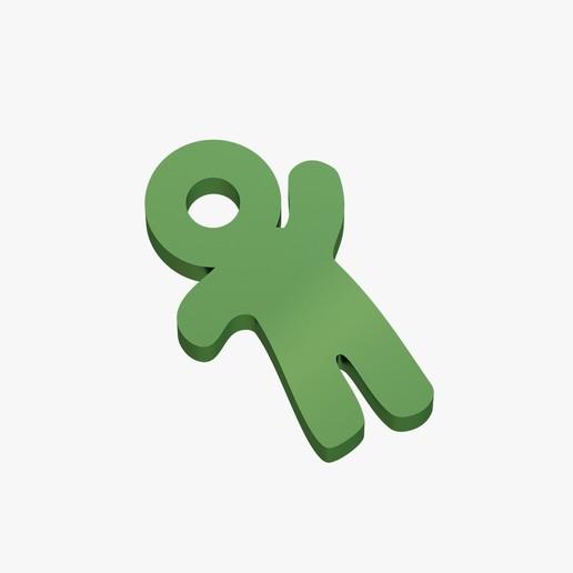 Télécharger fichier imprimante 3D Porte-clés petit homme, VALIKSTUDIO