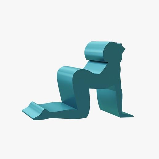 Download 3D printer designs Phone stand kneeling, VALIKSTUDIO