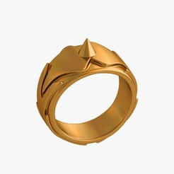 Self-defense_ring_jpg1.jpg Download OBJ file Self-defense ring • 3D printable template, VALIKSTUDIO