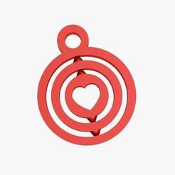 Fichier impression 3D Porte-clefs en forme de coeur, VALIKSTUDIO