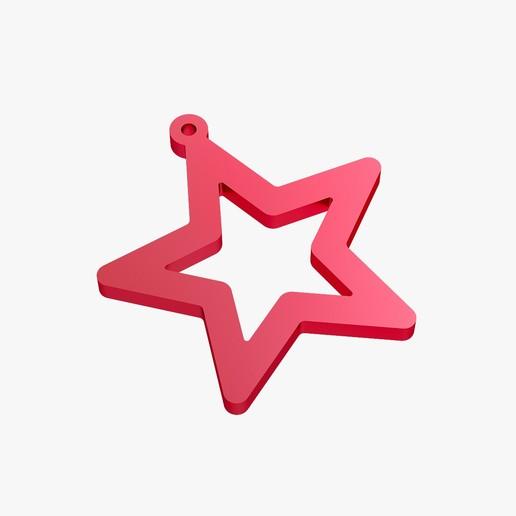 Descargar diseños 3D Pendientes estrella, VALIKSTUDIO