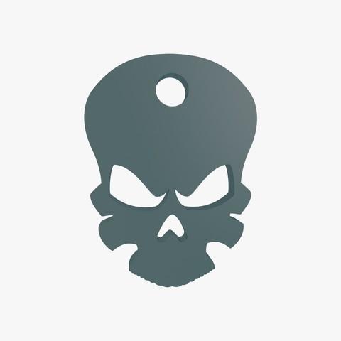 Download 3D printer files Death head keychain, VALIKSTUDIO