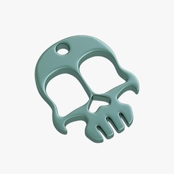 3D printing model Knuckles skull, VALIKSTUDIO