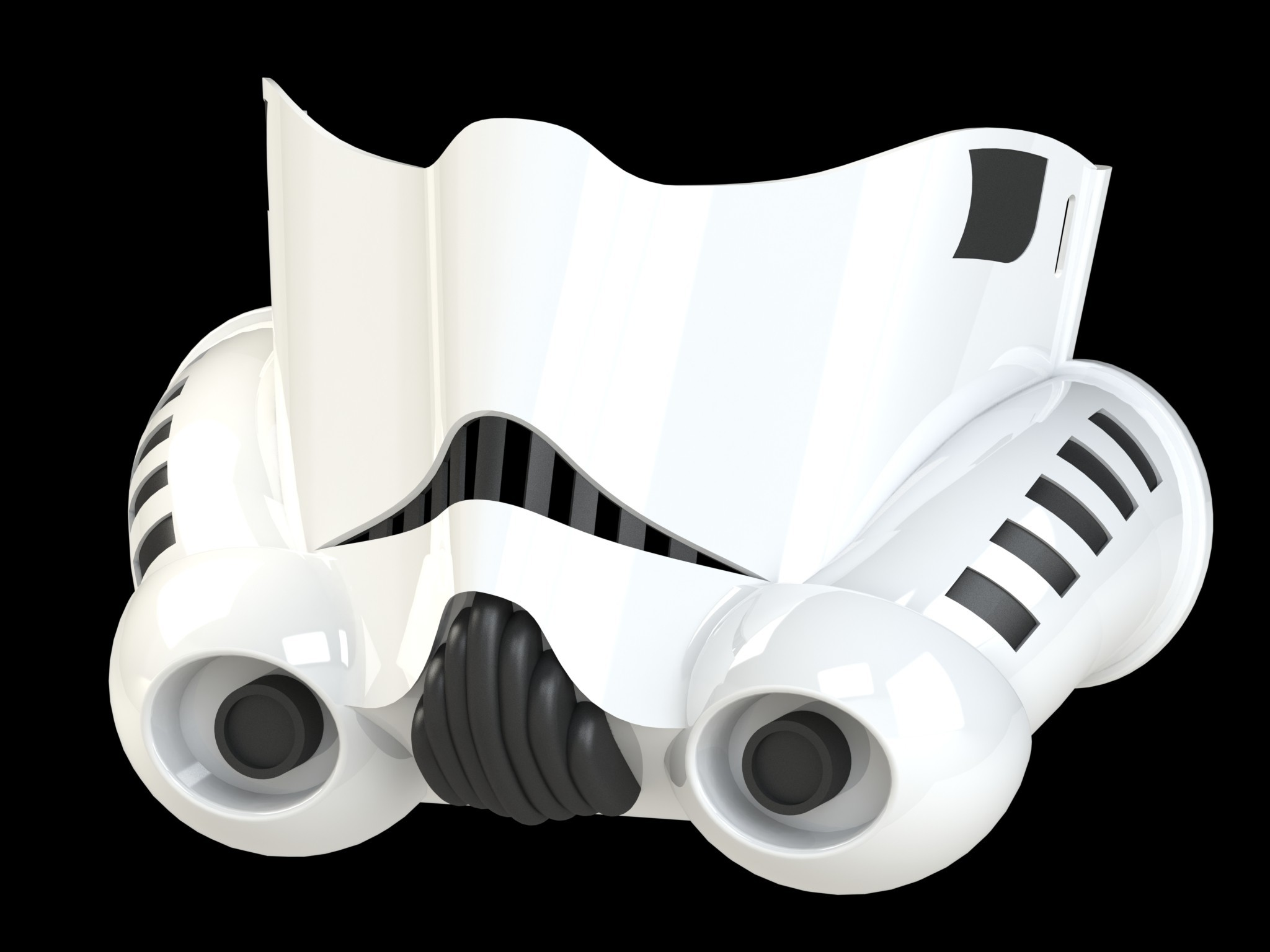 trooperrender4.JPG Download STL file Stormtrooper Face Mask • Object to 3D print, Thatsick