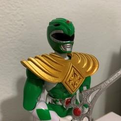 Télécharger fichier imprimante 3D Remplacement du bouclier de jouet Green Ranger des années 90, JahRay