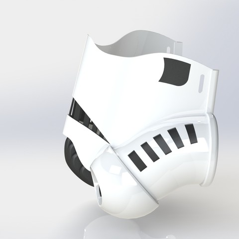 trooperrender3.JPG Download STL file Stormtrooper Face Mask • Object to 3D print, Thatsick