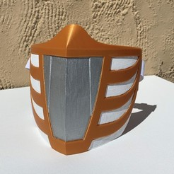 IMG_2024.JPG Download STL file White Ranger Face Mask • Object to 3D print, Thatsick
