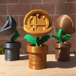 STL file Super Smash Bros Piranha Plant Trophy, JahRay