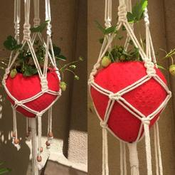 Free 3d printer designs Strawberry Hanging Planter, JahRay