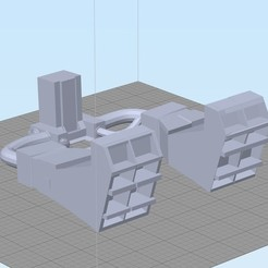 Free stl files Delorian Thicker grill engines, 3dprintingdoctor