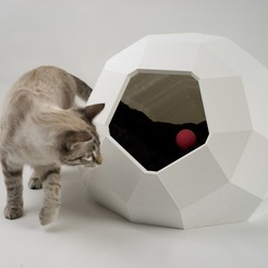 Download 3D printing models Cat house Tao, Catalpine