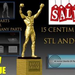 Download 3D printer model Rocky Balboa 3D STL STATUA NUOVO Silvester Stallone STL e OBJ 3d V8.1, 3dartist