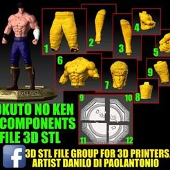 Descargar modelos 3D para imprimir OFERTA! HOKUTO NO KEN-KENSHIRO-KEN IL GUERRIERO STL NEW CARTOON, 3dartist