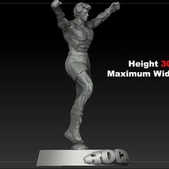 STL files OFFER! Rocky Balboa Silvester Stallone Stl for Printers 3d V3, 3dartist