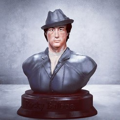 Download 3D model Rocky Balboa Bust V7- OFFER - Sylvester Stallone 3D STL - OBJ NEW 3D print model, 3dartist