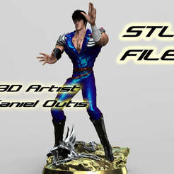 Download STL fist of the north star Hokuto no Ken Kenshiro, 3dartist