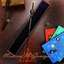 Mcgonagall.jpg Download 3MF file Minerva McGonagall Wand • 3D printer model, santuli700