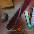 Death.png Download 3MF file Death Eater Wand (Thorn) Sale • 3D printable object, santuli700