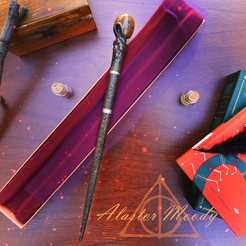 Download 3D printing templates Alastor Moody Wand, santuli700
