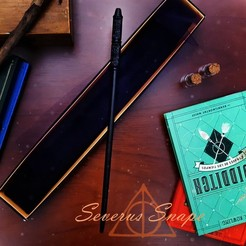 Severus0.jpg Download OBJ file Harry Potter Wands Sale • 3D print template, santuli700