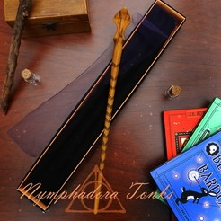 Tonk.jpg Download 3MF file Nymphadora Tonks Wand • 3D printable design, santuli700