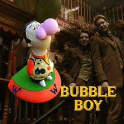 Bubble0.jpg Télécharger fichier 3MF Weasley Bookend- Bubble Boy • Objet à imprimer en 3D, santuli700