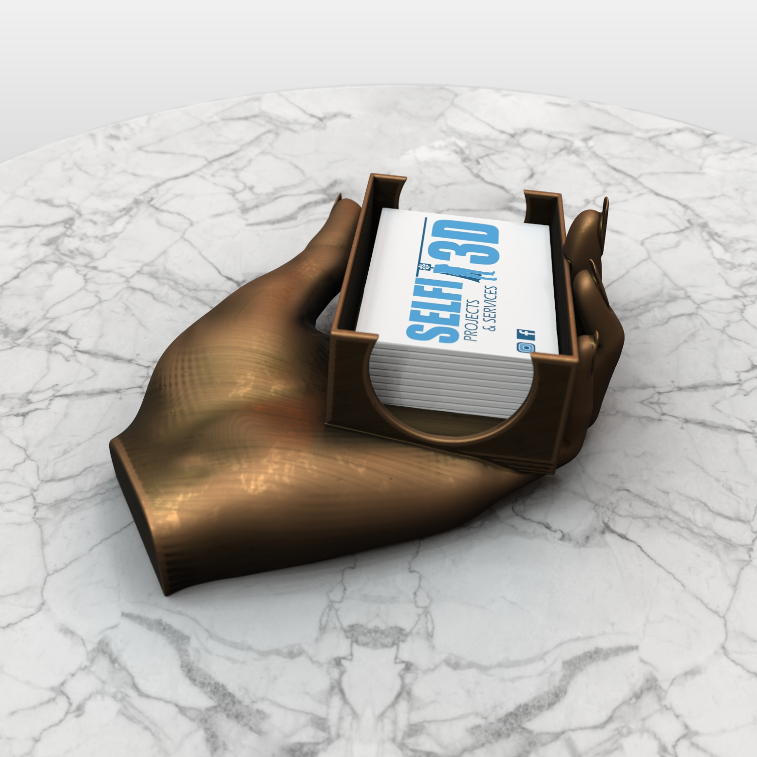 SAVE_20190730_143056.jpg Download free OBJ file Hand Card holder • Object to 3D print, Selfi3D