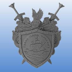 Download 3D printing files Coat of arms - Shield and Swords, Selfi3D