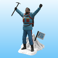 Download 3D printer files Mountaineer on the summit, Selfi3D