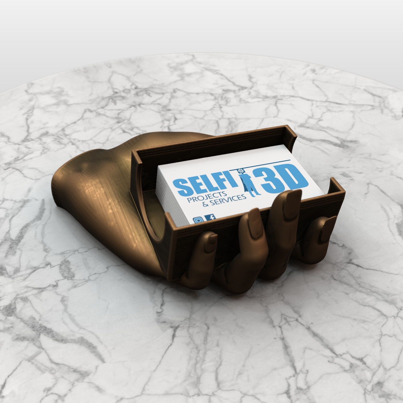 SAVE_20190730_143100.jpg Download free OBJ file Hand Card holder • Object to 3D print, Selfi3D