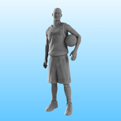 Kobe render.png Download STL file Kobe Bryant! • Template to 3D print, Selfi3D