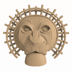 Download 3D model Mufasa Mask musical Lion King, Selfi3D