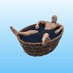 Color_eyes.png Download STL file The Witcher - Geralt in the tub • 3D printer design, Selfi3D
