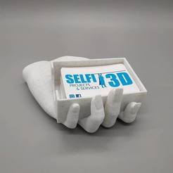 Download free STL files Hand Card holder, Selfi3D