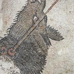 Mosaico Animal.jpg Download STL file Real Hispanic-Roman mosaic - Wild pig • 3D printable object, Selfi3D