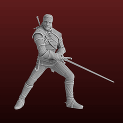 Download STL file Geralt of Rivia, Selfi3D